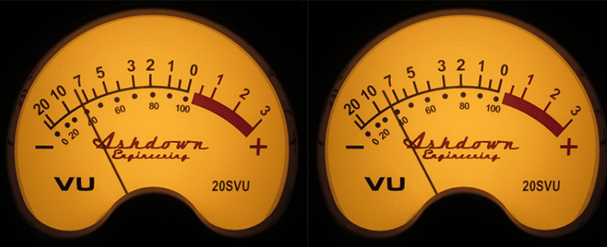 Ashdown Engineering VU meters