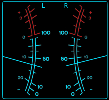 Avionics VU meters