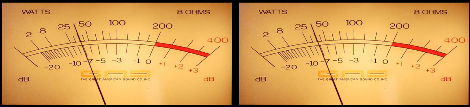 Great American Sound Company watt meters