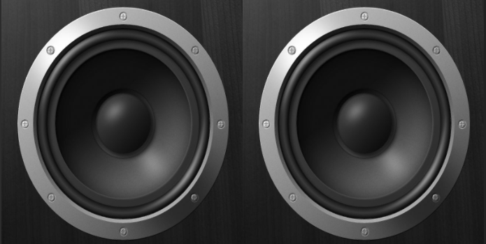 Two images of speakers