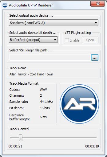 Audiophile UPnP Renderer